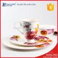luxury floral design fine porcelain single dinner set for house adn restaurant