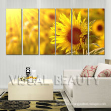 6Panel Sunflower Decoration Stretched Canvas Printing