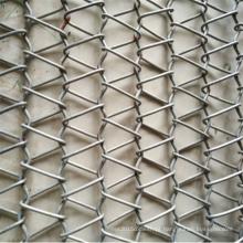 Correia transportadora de engranzamento de fio de aço inoxidável da indústria alimentar