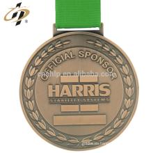 Medallón de bronce de encargo de los deportes del levantamiento de pesas del metal de la aleación del cinc