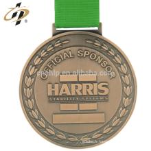 Médaillon de sport en métal d'haltérophilie en métal en alliage de zinc sur mesure