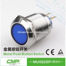 22mm CMP stainless steel waterproof industrial metal lighting switch ip67