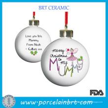 Kundenspezifisches Cearmic Weihnachtsgeschenk-hängender Ball