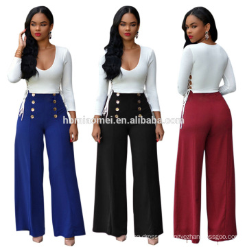 new long sleeves sexy double breasted strapless wide leg dress pants jumpsuit plazzo suits
