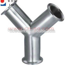 hot sale stainless steel pipe fittings equal y-type tee