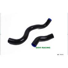 Negro Conector de tubo de manguera de silicona de radiador para Toyota Markii Jzx100