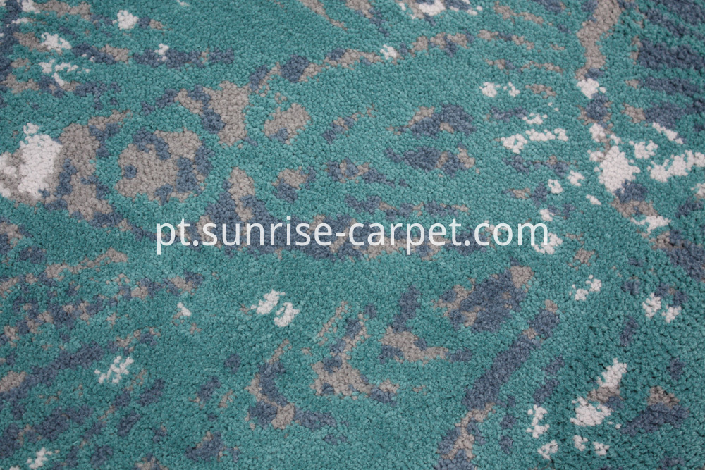 Microfiber Thick yarn with design rug