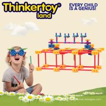 Bloques de construcción de plástico intelectual y juguetes educativos