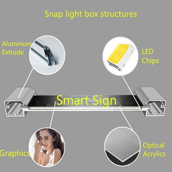 snap light box struacture