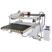 Large 4 Pillar Semi Glass Screen Printer Machine