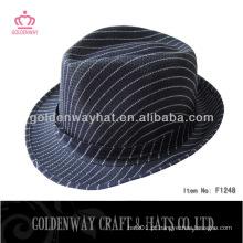 Chapéu de fedora azul escuro barato feito por poliéster