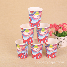 3oz de 32 oz tasses de papier jetable promotionnel