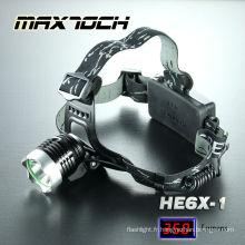 Maxtoch HE6X-1 cri T6 projecteur Rechargeable