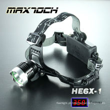 Farol de LED Cree Maxtoch HE6X-1 T6 alumínio multifuncional