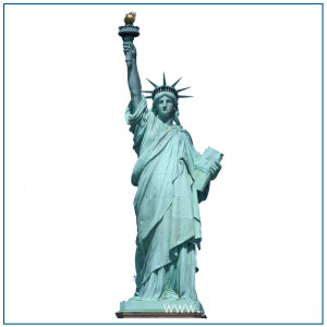 Antique Life Size Bronze Statue Of Liberty