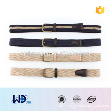 2016 unisex stylish single pin buckle PU fabric elastic belt
