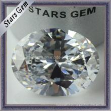 Zircônia cúbica branca do corte do Oval do jogo da jóia da forma (STG-36)