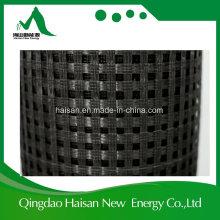 Polia de fibra sintética de polpa de polipropileno / poliéster de fibra preta de 120kn e Geogrid Biaxial de poliéster preto