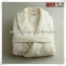 Fashion luxury white white shawl collar hotel peignoir en coton éponge