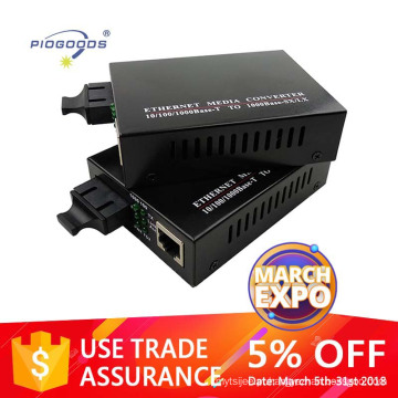 Conversor de mídia adaptativo monomodo / multimodo 10/100 / 1000M 20km