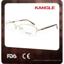 2017 Top vente classique Lady optique en métal lunettes, cadre optique en métal