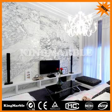 Imitación de mármol 3d hoja de pared para la decoración de la pared interior