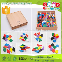 Frobel regalo gabe 7 preescolar madera patrón juguetes aprendizaje temprano juguetes para niños