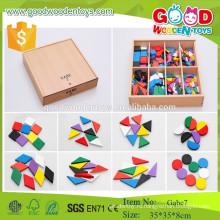 Frobel gift gabe 7 дошкольных деревянных игрушек игрушки для раннего обучения для детей