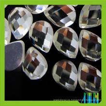 Wholesale espejo plano en forma de lágrima back glass stone