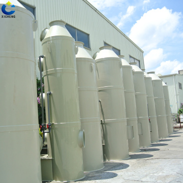 Organic gas spray type purification tower