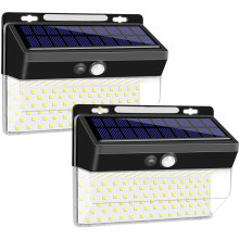 206LED Sensor de movimiento inalámbrico solar Luz exterior
