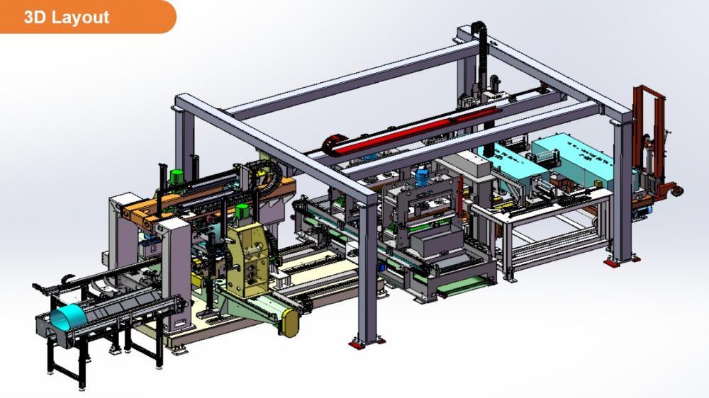 7480 3d Laser Welding Automatic Production Line