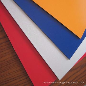 Rigid 3mm PVDF coating aluminum composite panel