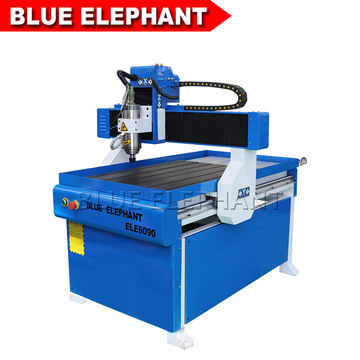 Blue Elephant 3 Axis Desktop Mini CNC Router 6090 with Competitive Price