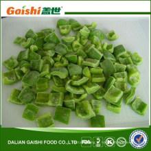 A pimenta verde congelada IQF corta