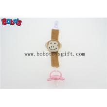 """5.5 """"Plush Baby chupeta clip marrom macaco chupeta titular clipe Bosw1052"""