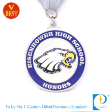 Supply Customized High Quality Zinc Alloy Imitation Enamel Honor Medal for High School