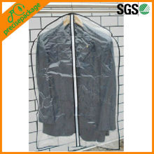 Reusable transparent clear plastic garment cover