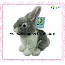 Сладкая плюшевая игрушка Симпатичная серая игрушка кролика