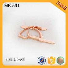 MB-591 Custom metal handbags tags logo engraved
