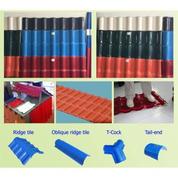 Máquina de extrusão de telha vitrificada PVC + ASA