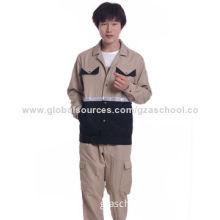 Work uniform, 30% cotton, 70% polyester fiber splicing