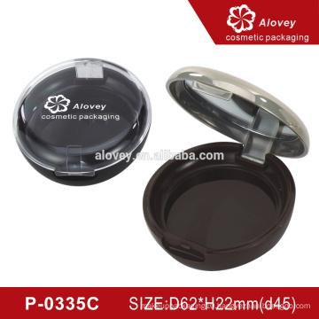 Round Custom Empty Compact Powder Case