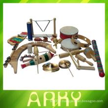 Maraca en bois à chaud, instrument de musique en bois de haute qualité, 2014 Nouveaux jouets de musique en bois