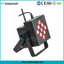 China 9*10W Battery Operated Rechargeable LED Flat PAR Light
