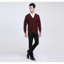 Yak Wool/Cashmere V Neck Cardigan Long Sleeve Sweater/Garment/Clothes/Knitwear