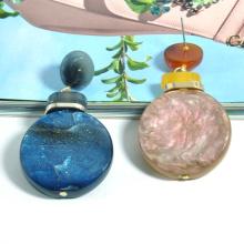 2020 2021 New trendy glitter simple ear jewelry for women acrylic colorful galaxy drop earrings