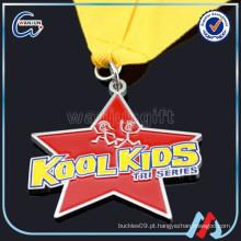 Medalha de ouro vermelho barato medalha de prata