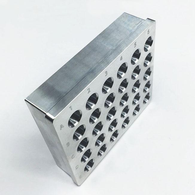machined aluminum centrifuge tube heating module