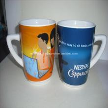 Impressos promocionais sublimação canecas de cerâmica, cor cheia